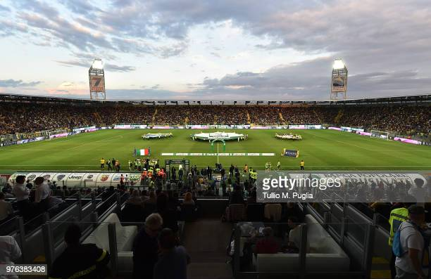 Atmosphere during the open ceremony of the serie B playoff match final between Frosinone Calcio v US Citta di Palermo at Stadio Benito Stirpe on June...