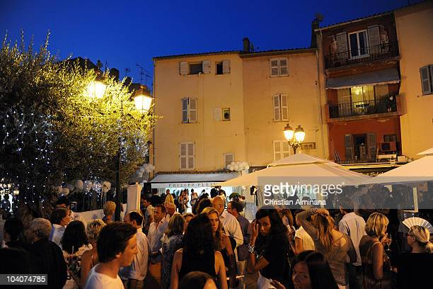 Atmosphere during the Philipp Plein Boutique opening party on July 8 2010 in SaintTropez France
