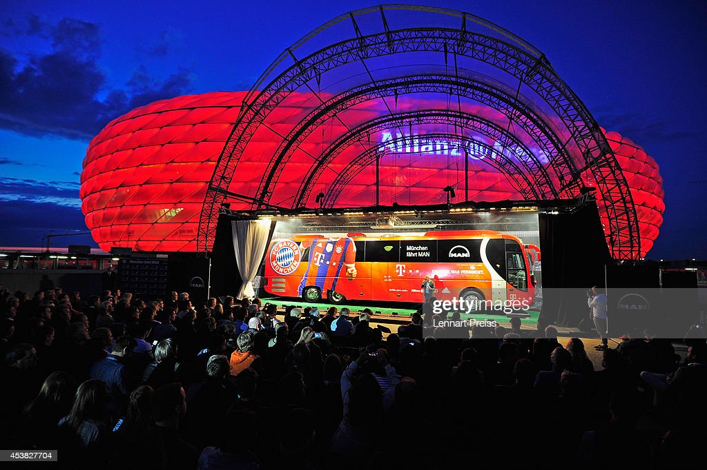FC Bayern Muenchen And MAN Unveil New Team Bus : News Photo