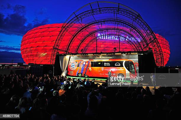 Atmosphere during the presentation of the new team bus of FC Bayern Muenchen at Allianz Arena on August 19 2014 in Munich Germany