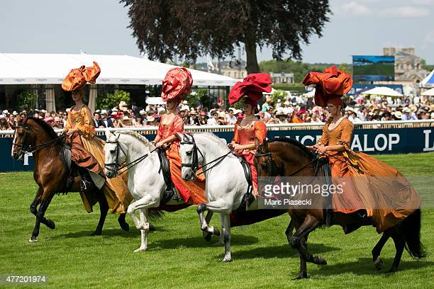 Atmosphere during the 'Prix de Diane 2015' at Hippodrome de Chantilly on June 14 2015 in Chantilly France