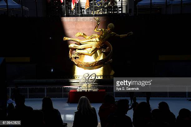 Atmosphere during The Rink At Rockefeller Center 80th Anniversary Season Opening at The Rink at Rockefeller Center on October 11 2016 in New York City
