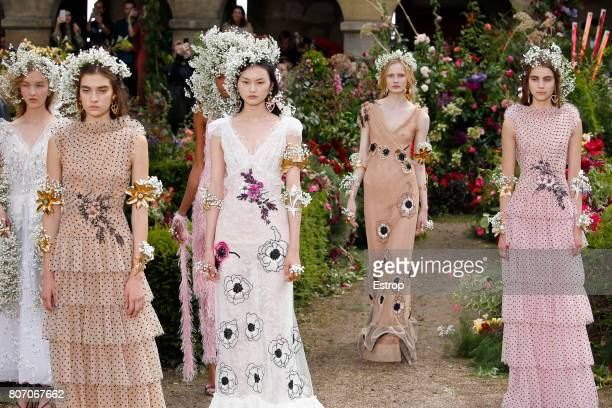 Atmosphere during the Rodarte Haute Couture Fall/Winter 20172018 show as part of Haute Couture Paris Fashion Week on July 2 2017 in Paris France