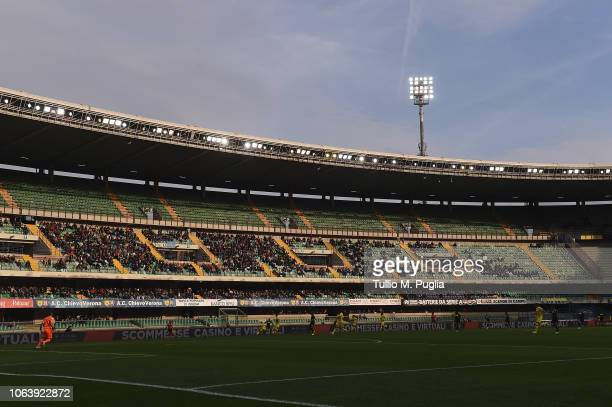 Atmosphere during the Serie A match between Chievo Verona and US Sassuolo at Stadio Marc'Antonio Bentegodi on November 4, 2018 in Verona, Italy.