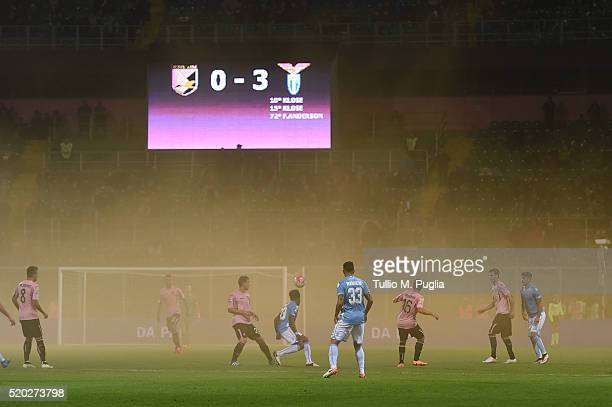 Atmosphere during the Serie A match between US Citta di Palermo and SS Lazio at Stadio Renzo Barbera on April 10 2016 in Palermo Italy