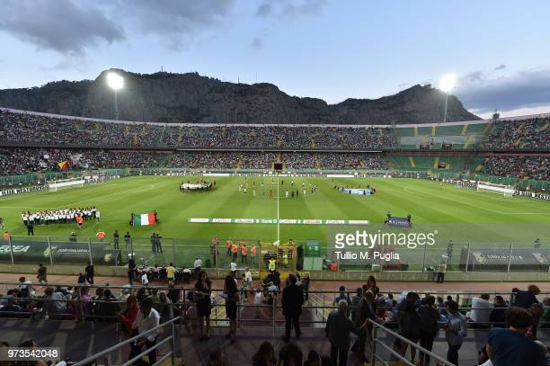 Atmosphere during the serie B playoff match final between US Citta di Palermo and Frosinone Calcio at Stadio Renzo Barbera on June 13 2018 in Palermo...