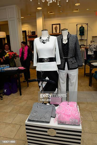 Atmosphere during the Shop For A Cause with Living Beyond Breast Cancer and People StyleWatch hosted at White House/Black Market apparel store on...