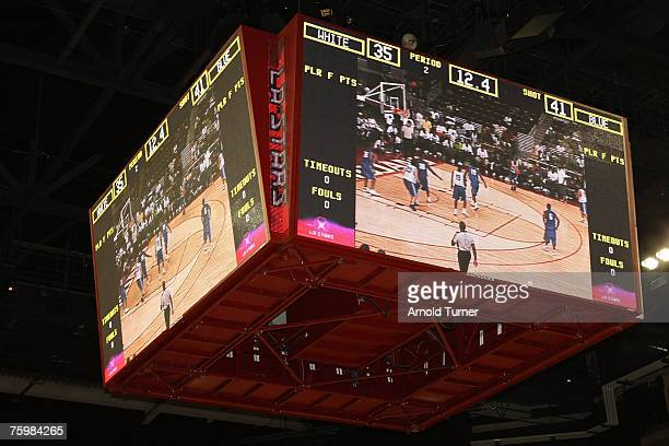 Atmosphere during the LA stars celebrity all star charity weekend celebrity and NBA all star game at USC Galen Center on August 5, 2007 in Los...