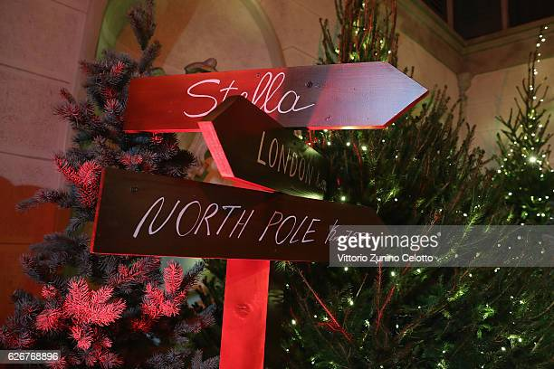 Atmosphere during the Stella McCartney Christmas lights party on November 30 2016 in Milan Italy