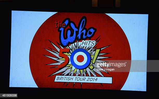 Atmosphere during the The 50th Anniversary Photocall of The Who at Ronnie Scott's on June 30 2014 in London England