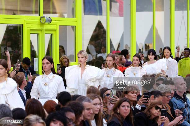 Atmosphere during the Valentino Womenswear Spring/Summer 2020 show as part of Paris Fashion Week on September 29, 2019 in Paris, France.