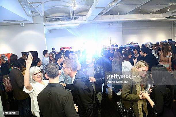 Atmosphere during the Vs/Better Charity Art Exhibition opening reception at Dillon Gallery on March 11 2014 in New York City