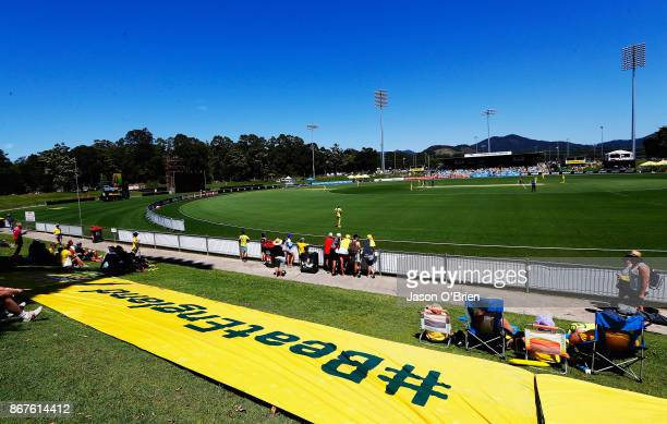 Atmosphere during the Women's International One Day match between Australia and England on October 29 2017 in Coffs Harbour Australia