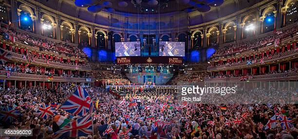 Atmosphere for Last Night Of The Proms at Royal Albert Hall on September 13 2014 in London United Kingdom