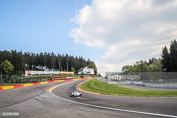 Atmosphere image as the Porsche 919 Hybrid runs up the Eau rouge Radillion corner during the race of Round 2 of the 2014 FIA World Endurance...