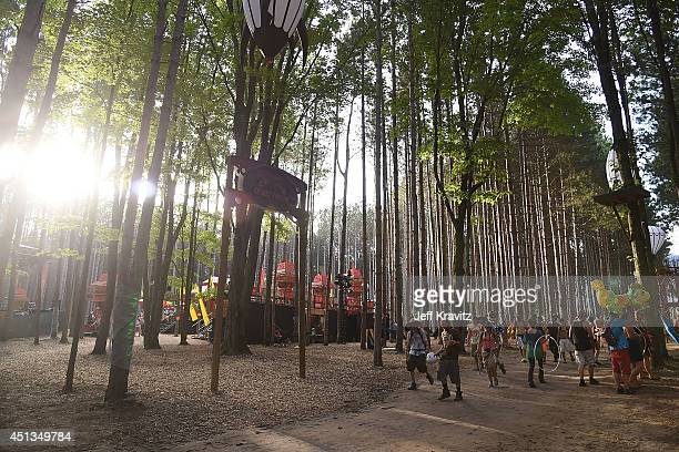 Atmosphere in Sherwood Forest on Day 2 of the 2014 Electric Forest Festival on June 27 2014 in Rothbury Michigan
