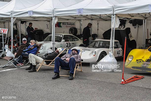 Atmosphere in the paddock during Spa-CLassic, May 25th, 2013 at Spa-Francorchamps Circuit in Belgium.