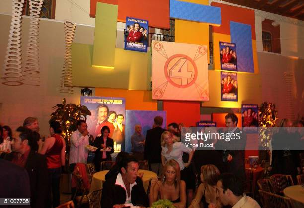 Atmosphere inside of the Anchorman aftershow party at the Hollywood Roosevelt Hotel June 28 2004 in Hollywood California