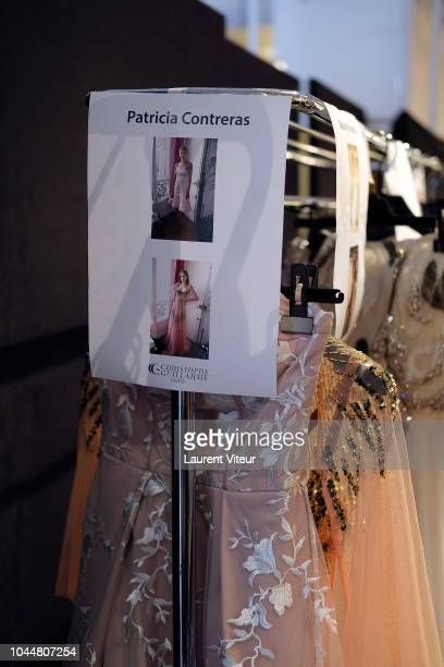 Atmosphere of backstage before the Christophe Guillarme show as part of the Paris Fashion Week Womenswear Spring/Summer 2019 on October 2, 2018 in...