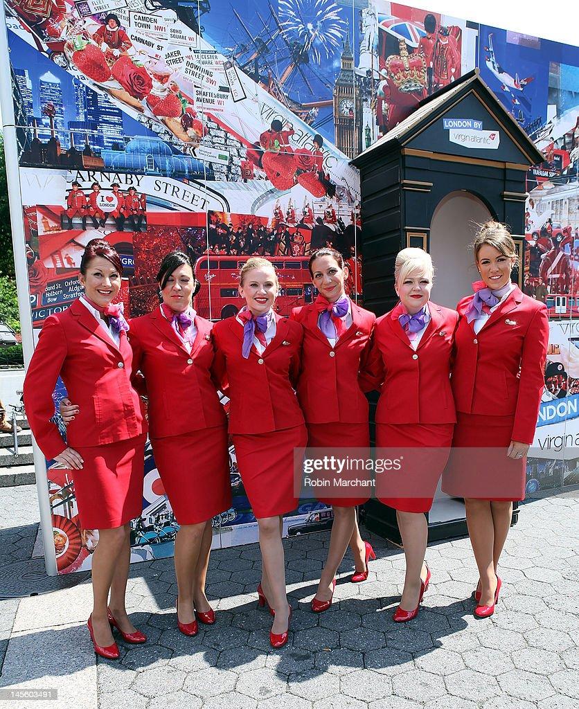 Virgin Atlantic Presents Union Jack Square : News Photo