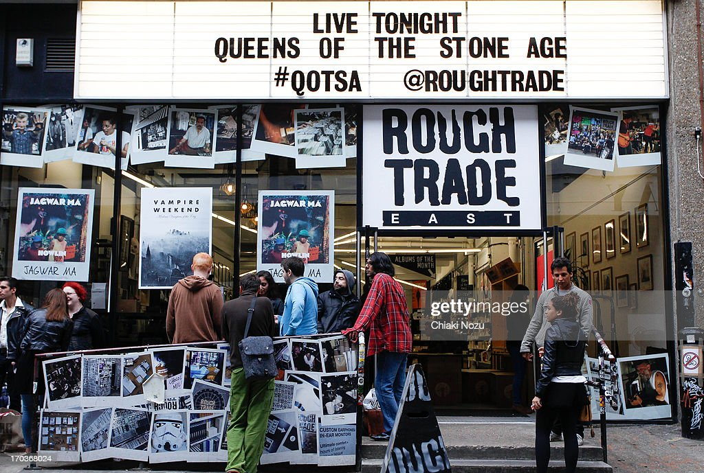 Atmosphere of Queen Of The Stone Age instore gig at Rough Trade East on June 11, 2013 in London, England.
