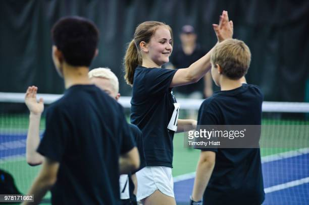 Atmosphere of the Laver Cup Ball Kid Tryouts at Midtown Athletic Club on June 18 2018 in Chicago Illinois