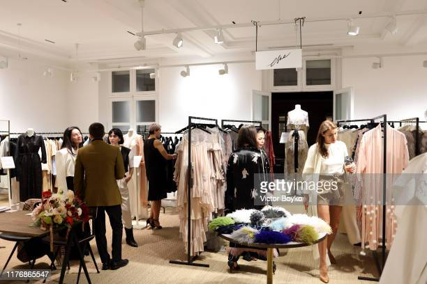 Atmosphere of the Mode:Moscow showroom and cocktail event as part of Paris Fashion Week on September 24, 2019 in Paris, France.