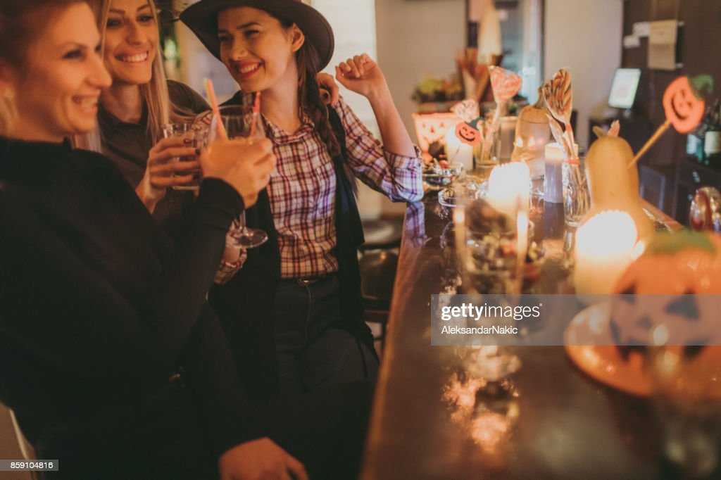 Atmosphere on a Halloween party : Stock Photo
