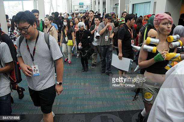 Atmosphere on Day 2 of Anime Expo 2016 held at Los Angeles Convention Center on July 1 2016 in Los Angeles California