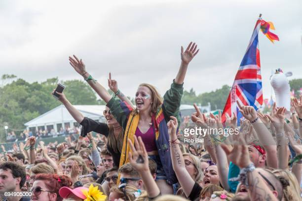 Atmosphere on day 4 of The Isle of Wight festival at Seaclose Park on June 11 2017 in Newport Isle of Wight