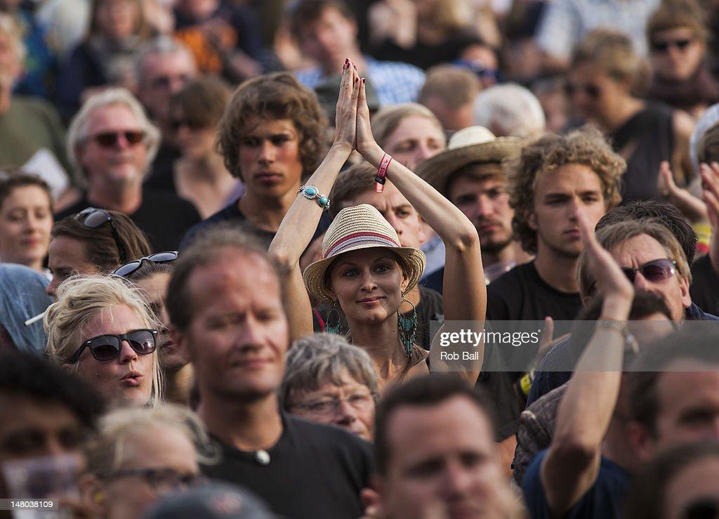 Atmosphere on day four of Roskilde Festival on July 8, 2012 in Roskilde, Denmark.
