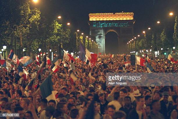 Atmosphere on the Champs Elysees