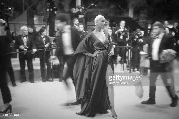 Atmosphere on the red carpet as guests arrive for the screening of Mektoub My Love Intermezzo during the 72nd annual Cannes Film Festival on May 23...