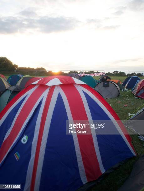 Atmosphere on the third and final day of Hevy Music Festival at Port Lympne Wild Animal Park on August 8 2010 in Lympne England