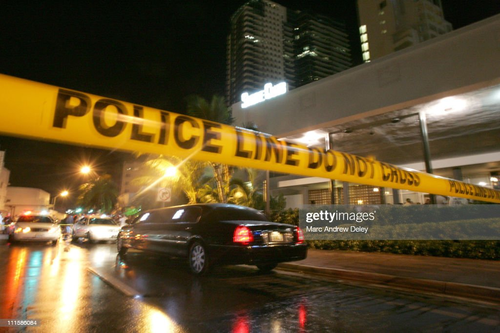 2005 VMA - Aftermath of Suge Knight Shooting in Miami - August 28, 2005 : News Photo