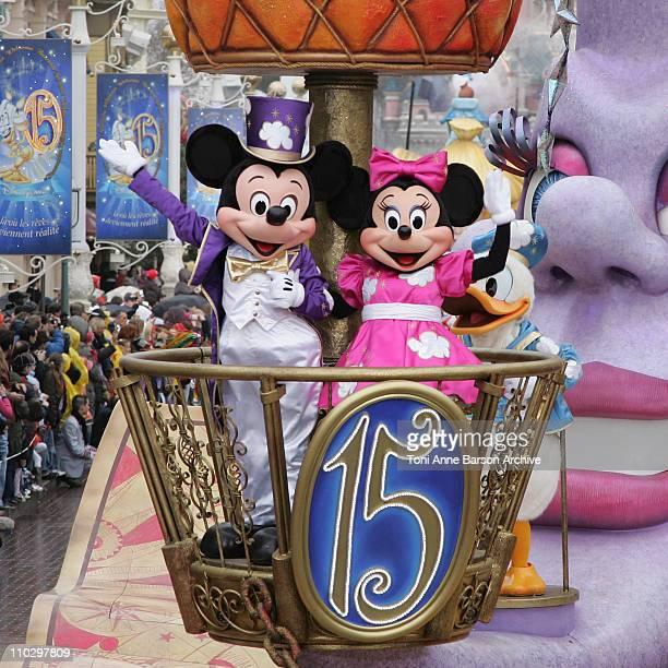 Atmosphere - Parade during Disneyland Paris - 15th Anniversary Celebration at Disneyland Paris in Marne-La-Vallee / Paris, France.