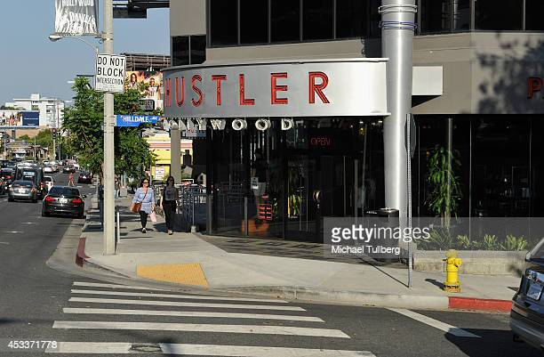 Atmosphere shot of Hustler Hollywood on the 'Sunset Strip' on August 8 2014 in Hollywood California According to Bloomberg News the area known as the...