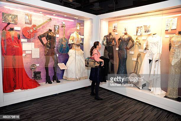 "Atmosphere shot of people enjoying media preview day of ""The Taylor Swift Experience"" at The GRAMMY Museum on December 12, 2014 in Los Angeles,..."