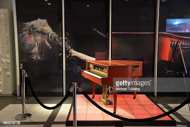 "Atmosphere shot of piano belongint to Taylor Swift during media preview day of ""The Taylor Swift Experience"" at The GRAMMY Museum on December 12,..."