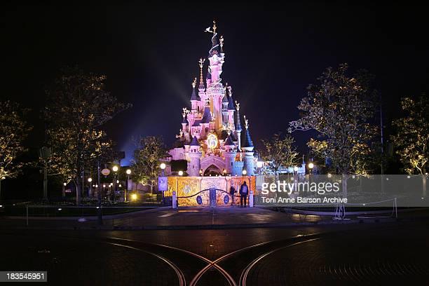 Atmosphere Sleeping Beauty Castle during Disneyland Paris's 15th Anniversary Celebrations Dinner Arrivals at DisneyLand Paris in MarneLaVallee /...