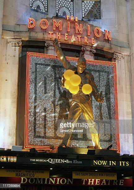 Atmosphere - the Dominion Theatre with Freddie Mercury statue