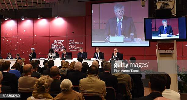 Atmosphere the Generali shareholder's meeting on April 28 2016 in Trieste ItalyThe Assicurazioni Generali insurance company was founded in 1831 in...