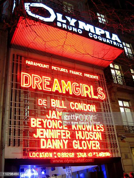 Atmosphere The Olympia Theater Paris during Dreamgirls Paris Premiere Red Carpet Arrivals at Olympia Theatre in Paris France