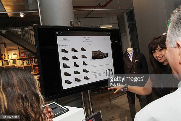 65508d254 Atmosphere view of guests visiting the BALLY shopping section at the GQ  Nordstrom Launch PopUp Store