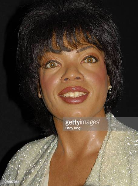 Atmosphere view of Oprah Winfrey wax figure at Madame Tussaud's Wax Museum in London England on August 4 2008 in London England