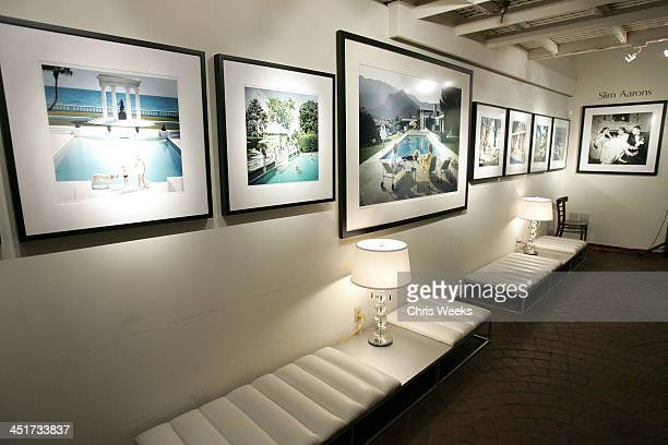 Atmosphere with Photographs by Slim Aarons during Photographer's Gallery Presents Slim Aarons Curated by Kate Spade at Fred Segal Cafe in West...