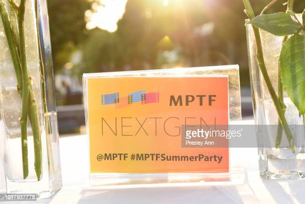 Atmosphereat the MPTF's Annual NextGen Summer Party at Paramount Pictures on August 16 2018 in Los Angeles California