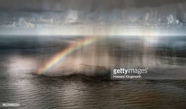 Atmospheric optical rainbow over the sea