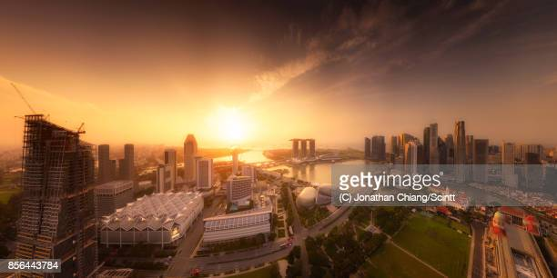 atmospheric - singapore cbd stock pictures, royalty-free photos & images