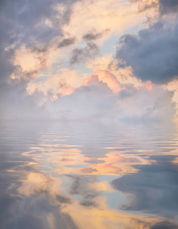 Atmospheric Reflections Pale Blue - gettyimageskorea
